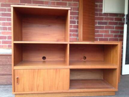 Mid Century Danish Retro Bookcase Shelving, Entertainment TV Unit Bentleigh East Glen Eira Area Preview