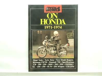 Cycle World On Honda 1971-1974 Book Dunstall 750 CB350K3 CR125M B1286