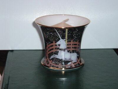 The Unicorn in captivity - Fine Bone China - VotiveTealight/Candle Holder - NOS