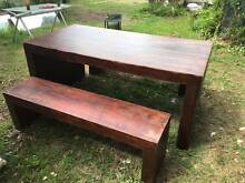 WOODEN TABLE AND CHAIRS DINING SET Bexley Rockdale Area Preview