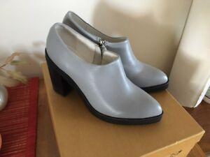 'Búl' grey/black leather stylish boots sz 39