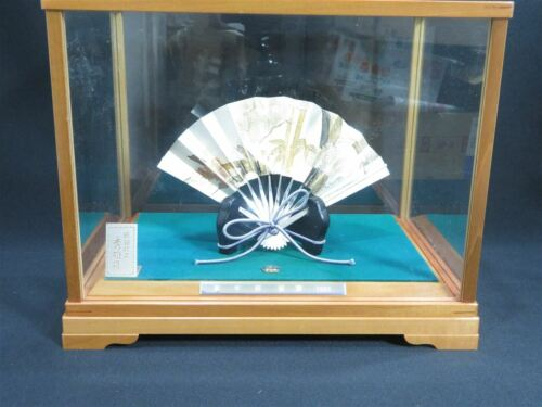 Japanese Antique Sterling Silver Fan with Case & Stand Sensu ohgi Japan 13