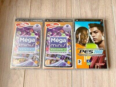 Jeux PSP Méga minis Volume 1 & 2 Neuf sous blister +KDO