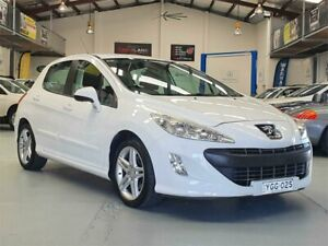2011 Peugeot 308 Sportium White 6 Speed Automatic Hatchback Seven Hills Blacktown Area Preview