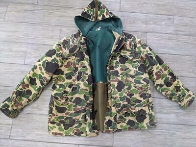 1960s vintage SAFTBAK jacket MEDIUM frogskin woodland CAMOUFLAGE hunting for sale  Shipping to India