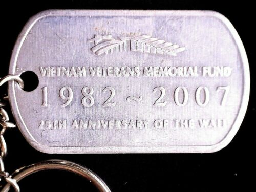 CatalinaStamps: Vietnam Veterans Memorial Fund Dog Tag Keychain, Lot #F