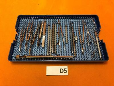 Opthalmic Surgical Instrument Tray -- Set Of 21 Items
