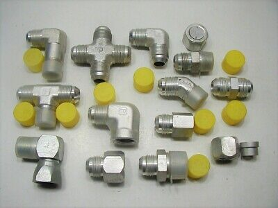 12 34 Parker Hydraulic Jic Flared Tube Fittings 1 Nuts Sleeves