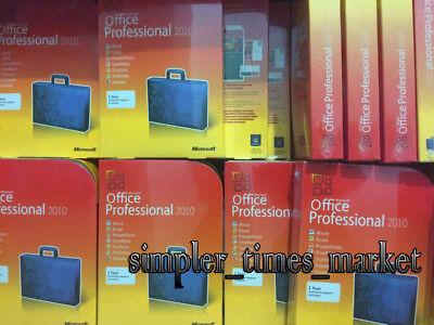 Microsoft Office Professional 2010 Full Retail Version Windows32 64 For 3 Pcs