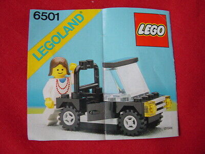 LEGO TOWN 6501 SPORTS CONVERTIBLE 100% COMPLETE VINTAGE SET 1987 (See my items)