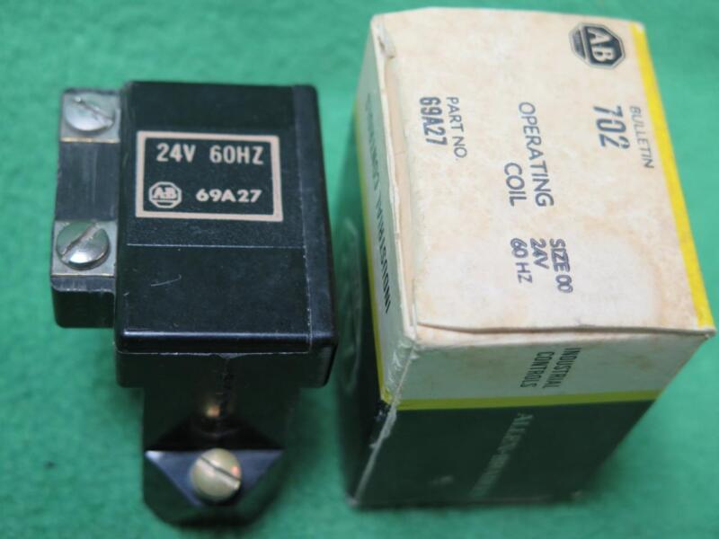 A-B ALLEN BRADLEY 69A27 OPERATING MAGNETIC COIL CONTACTOR  24V 60Hz SIZE 00