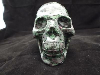 Epidote Carved Crystal Skull Realistic Free Shipping USA Seller
