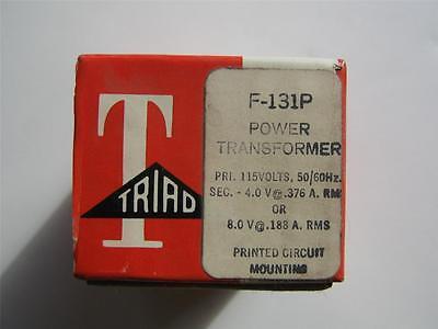 Triad F-131p Power Transformer 115vac Primary 8vac Or 4 Vac Secondary Pc Mount
