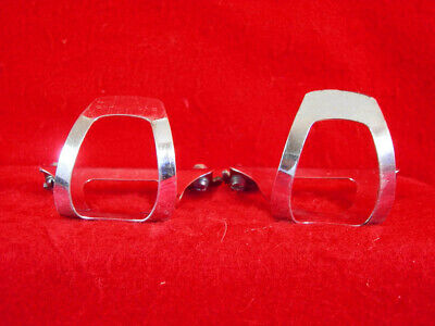 GENUINE 80/'s CHRISTOPHE CHROME STEEL CLIPS SMALL MADE BY CHRISTOPHE OF FRANCE
