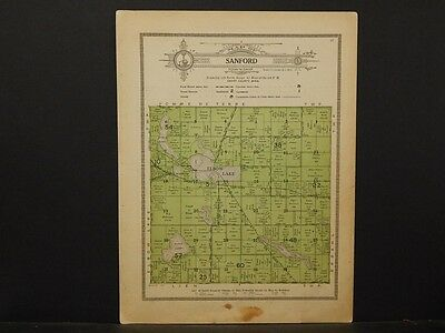 Minnesota, Grant County Map, 1914 Township of Sanford Y1#11