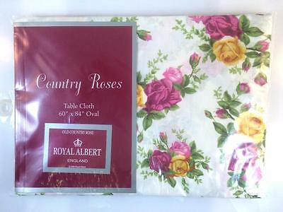 "Royal Albert Old Country Roses Tablecloth 60"" X 84"" Oval"