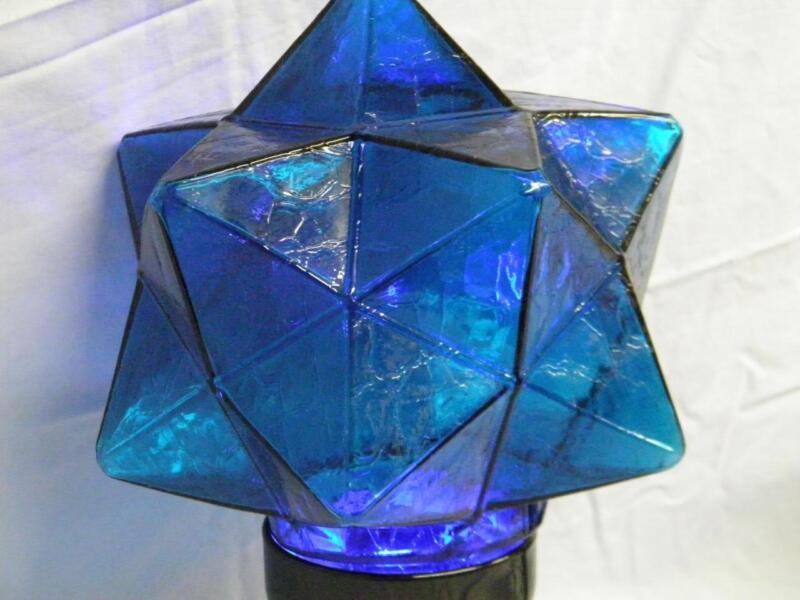 Hendercagram Ceiling Light Shade Cobalt Blue, Star