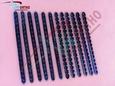 3.5mm Small Locking Plates 16 Holes Lot Of 12 Pcs Titanium Veterinary Orthopedic