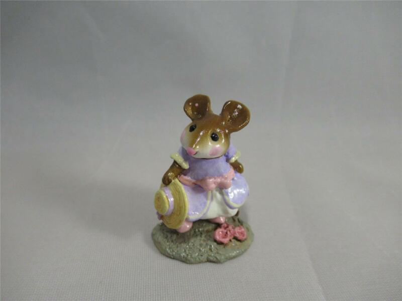 Wee Forest Folk Hattie Lavender Dress - Retired in 2005 - Cute WFF