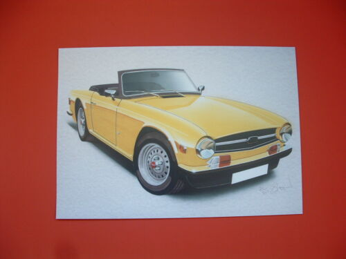 Triumph TR6  Triumph TR British sports car limited edition art print