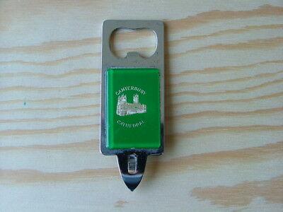 Vintage Canterbury Cathedral souvenir bottle opener Tin Piercer BH001