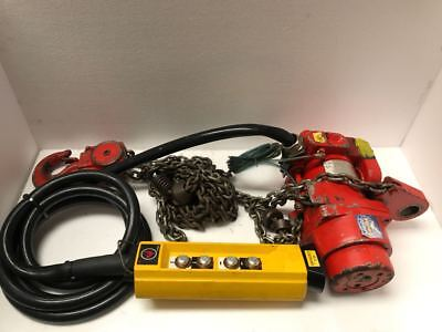 Fisher Offshore Tcr 2000 Pneumatic Air Chain Hoist Cap. 2000 Kgs Free Shipping