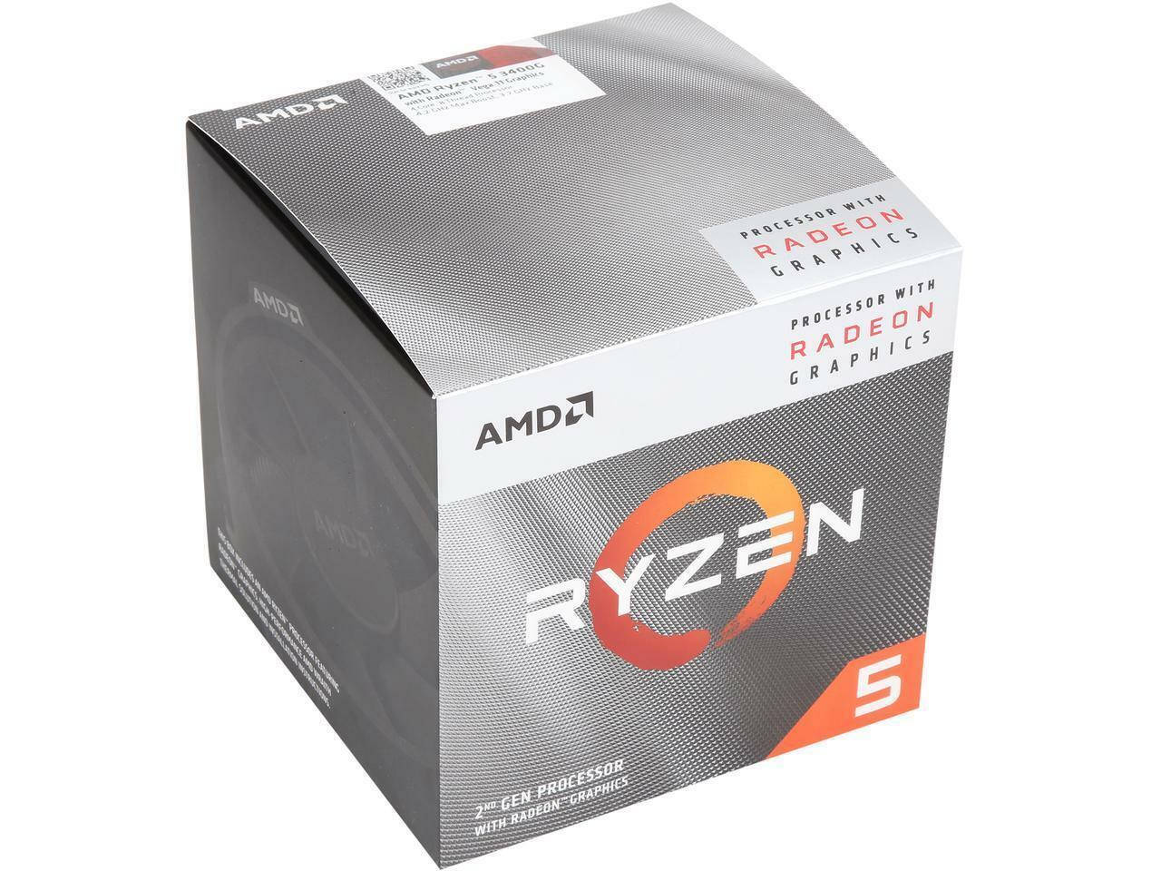 Custom Gaming Computer Ryzen 5 3400G 4.2 GHZ 16GB DDR4 Desktop PC 500GB HDD HDMI 1