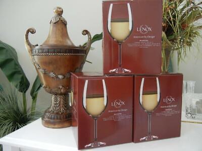 NIB LENOX AMERICAN BY DESIGN MADEIRA CLASSIC WHITE 3 SETS OF 4 WINE GLASSES 21oz American Classic Wine Set