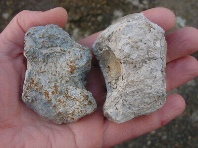 2 LARGE Heat cracked Neolithic Flint POT BOILER's Wiltshire England
