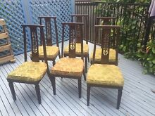 SIX Mahogany stained dining chairs West Pennant Hills The Hills District Preview