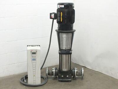 Grundfos Cr 32-4 20hp Vertical In-line Centrifugal Pump Wabb Ach550 Hvac Drive