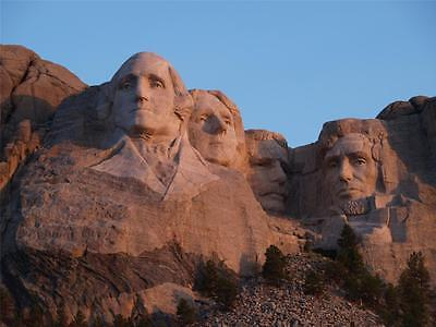 MOUNT RUSHMORE SUNRISE GLOSSY POSTER PICTURE PHOTO roosevelt sculpture abe (Sunrise Glossy)