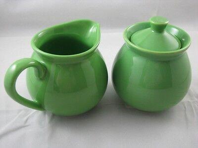 Green Apple Sugar & Creamer Set Waechtersbach German Stoneware  New Waechtersbach Green Apple