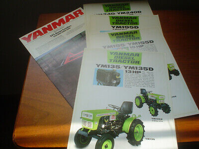 Yanmar Tractor Brochures Ym135 Ym155 Ym195 Ym240 Yanmar Loaders All Original