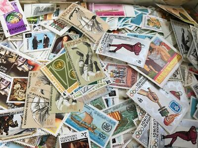STAMP MNH WORLD WIDE 100pcs Mint unused lot off paper  philatelic collection