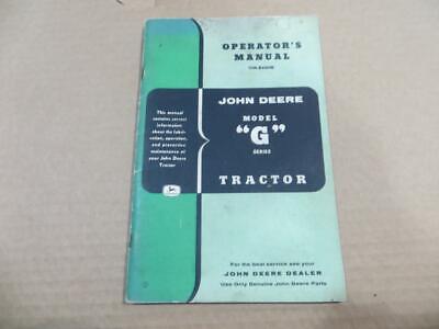 John Deere Original G Operators Manual