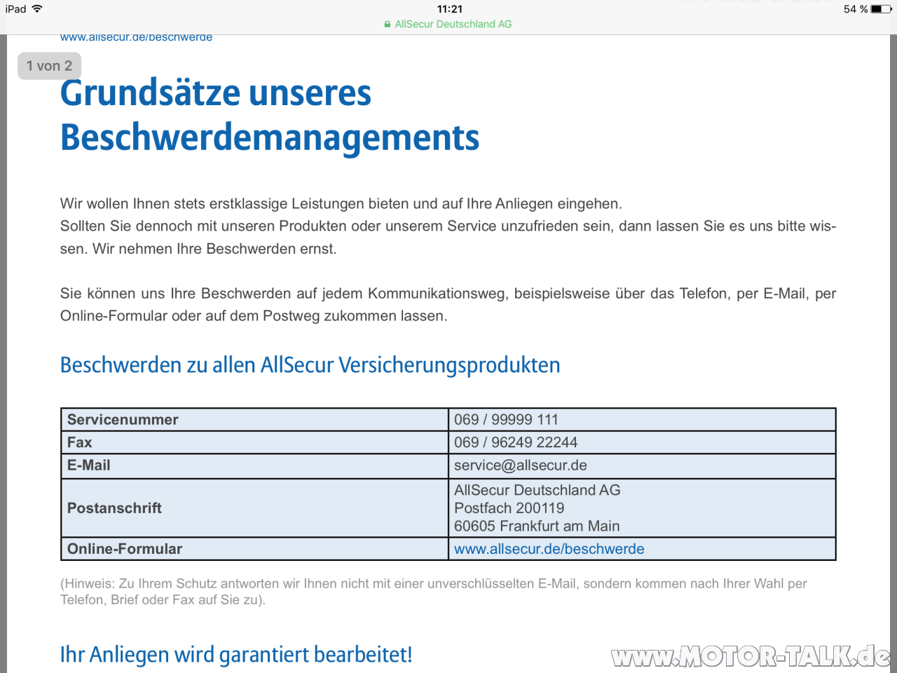 All Secure Bewertung