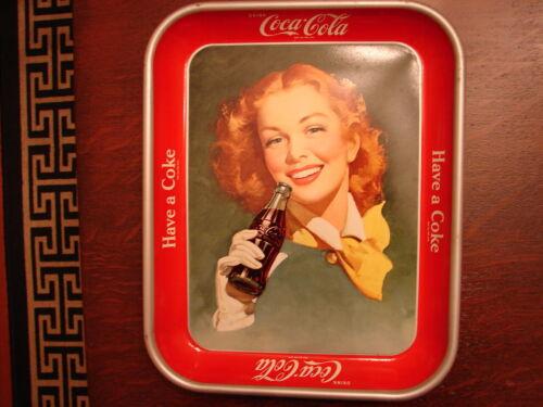 """Vintage Original NOS 1950 Coca Cola """"Have A Coke"""" Serving Tray Excellent Cond"""