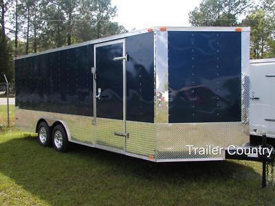 New 8.5 X 24 8.5x24 Enclosed Cargo Carhauler Race Trailer - New 2020