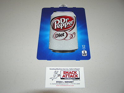 Dixie Narco 501e 276hv Soda Vending Machine Diet Dr. Pepper Can Vend Label