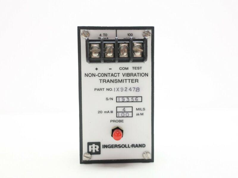 Ingersoll Rand 1X9247B Non-contact 4-20ma Vibration Sensor Transmitter