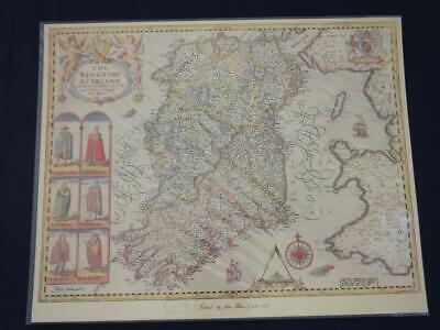 Reproduction Antique Map of Ireland 16 x 20 inches.