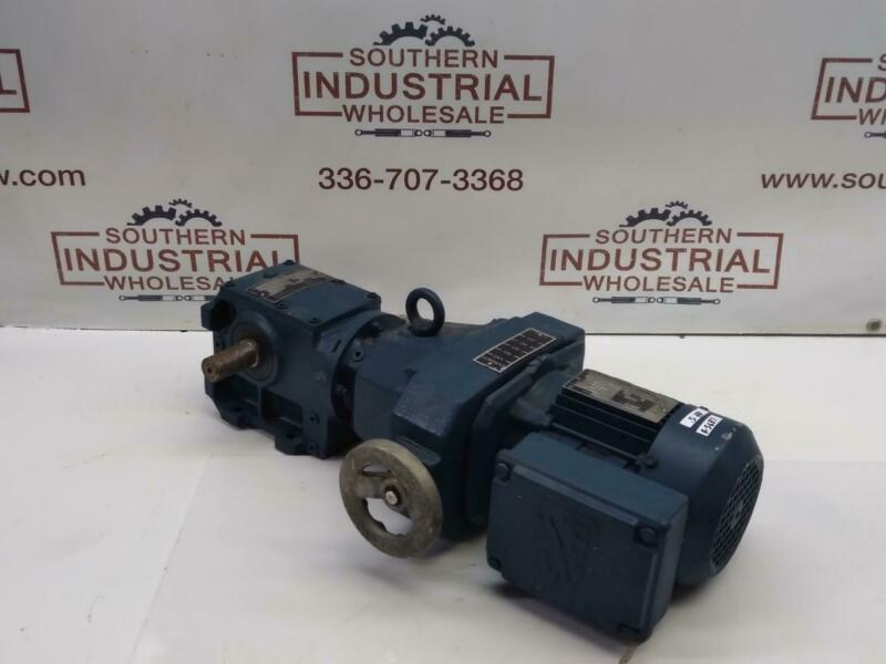 Sew Eurodrive DF14DT71D4 And S42D14DT71D4 0.5HP 7.89 Ratio Gear Reducer & Motor