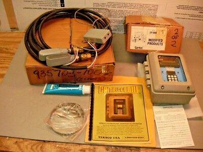 Teksco Compu-flow Dfm-c4 Ultrasonic Doppler Flowmeter Kit Clean Or Dirty Fluids