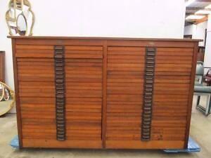 D5031 Fantastic Huge Vintage Oak 50 Printers Drawers Cabinet F.T Unley Unley Area Preview