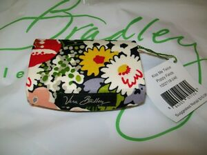 NEW-Vera-Bradley-Kiss-Me-Twice-POPPY-FIELDS-Lip-Stick-Case-w-Mirror-nwt-Black