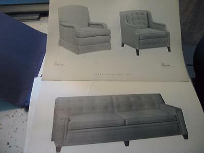 1950's BAKER FURNITURE INC CABINET MAKERS INVENTORY SHEETS/ BOOKLET ()