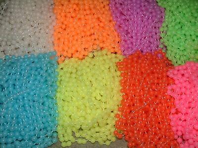 120 GLOW IN DARK MARDI GRAS BEADS-PARTY-FREE SHIPPING! - Mardi Gras Beads In Bulk
