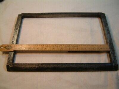 Vintage Original 8 X 12 Golding Co. Jobber No. 6 Letterpress Cast Iron Chase