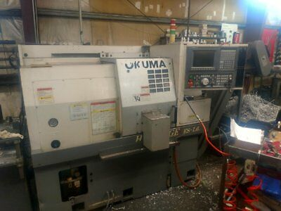 Okuma Es-l6 Cnc Lathe Osp U10l Control Lns Barfeed Parts Catcher New 2006